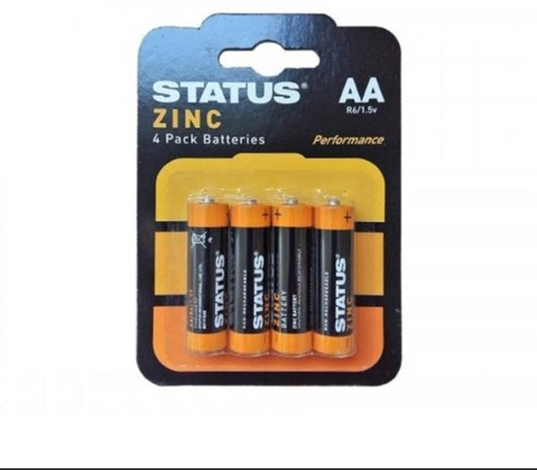 Status AA Zinc Batteries (4 Pack)