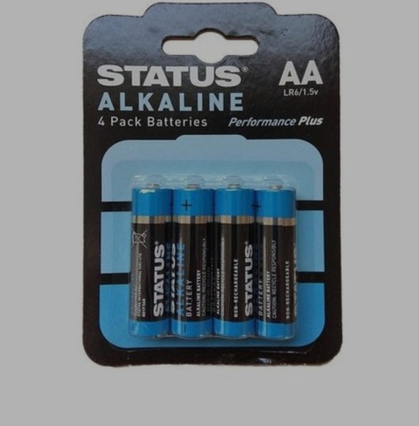Status AA Alkaline Batteries (4 Pack)