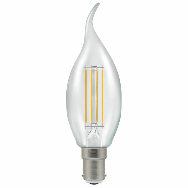 LED Flame Bent Tip SBC SES ES BC Amber Filament Candle Extra Warm Bulbs E14