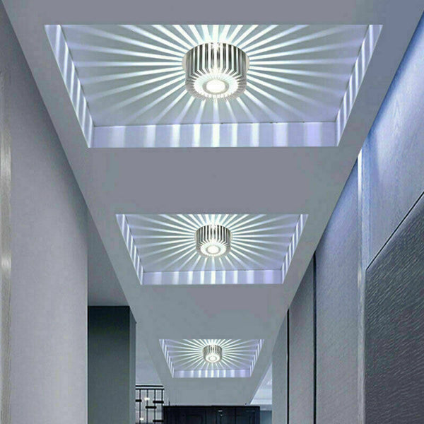 3W Round Bright LED Ceiling Down Light Panel