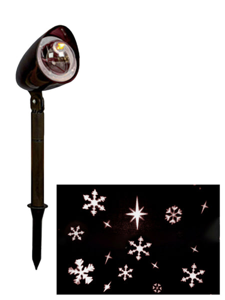 LED Path Light Projector RED MERRY CHRISTMAS