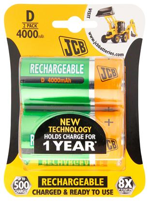 JCB Rechargeable D (2 Pack)