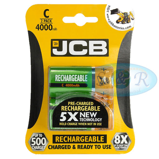 JCB Rechargeable C (2 Pack)