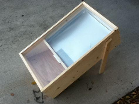 Solar Wax Melter, Wood
