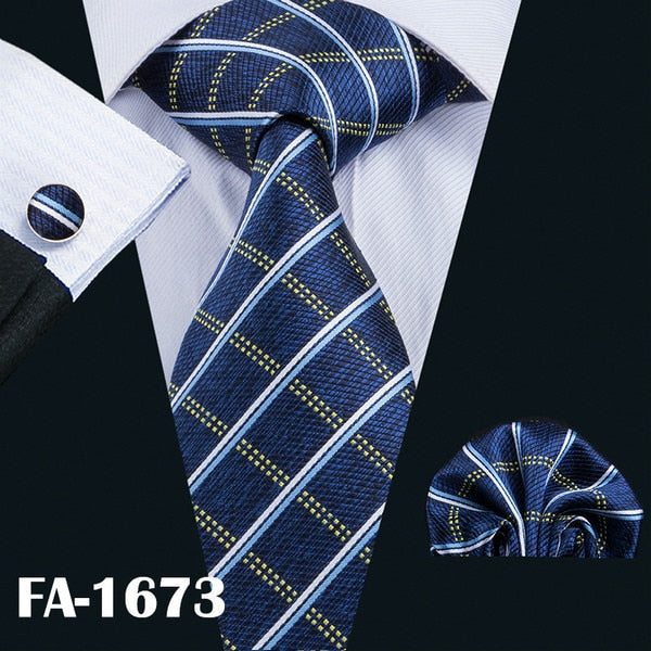 20 Styles Blue Fashion Silk Tie - Men's Essential Store