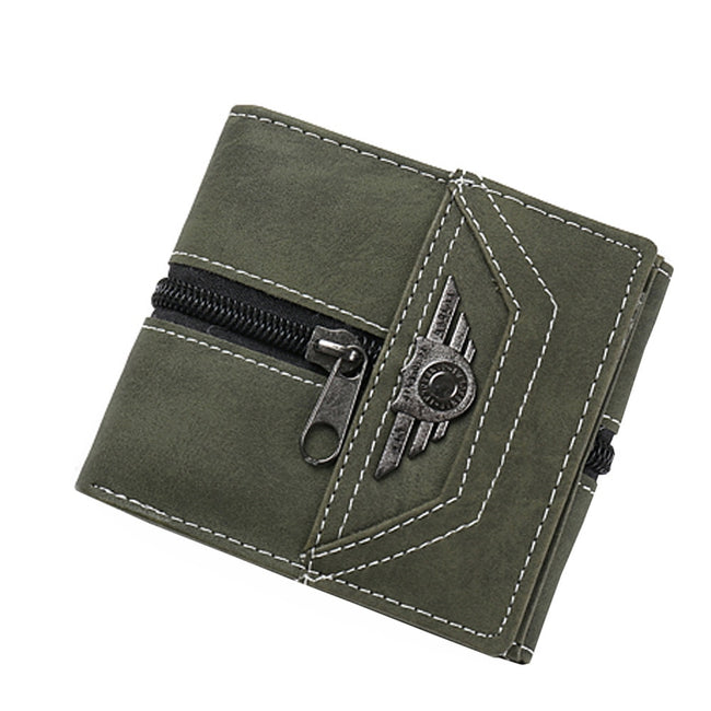 Designer Leather Men Short Wallet - Men's Essential Store