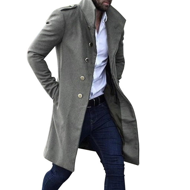 Casual Loose Long Coat - Men's Essential Store
