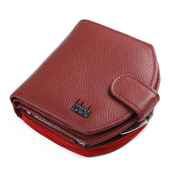 Leather Zipper Mini Wallet - Men's Essential Store