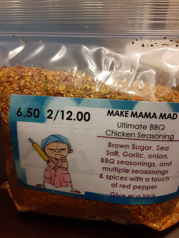 A-Make Mama Mad Ultimate BBQ Seasoning.