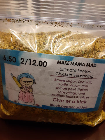 A-Make Mama Mad Ultimate Lemon Chicken Seasoning
