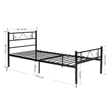 Load image into Gallery viewer, EGGREE Beard-Shape Single Bed | Double Bed | Metal Bed Base | Black