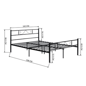 EGGREE Beard-Shape Single Bed | Double Bed | Metal Bed Base | Black