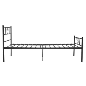 EGGREE Heart-Shape Single Bed | Double Bed | Metal Bed Base | Black