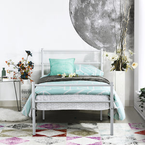 EGGREE PRIMO Single Bed | Double Bed | Metal Bed Base | Black | White