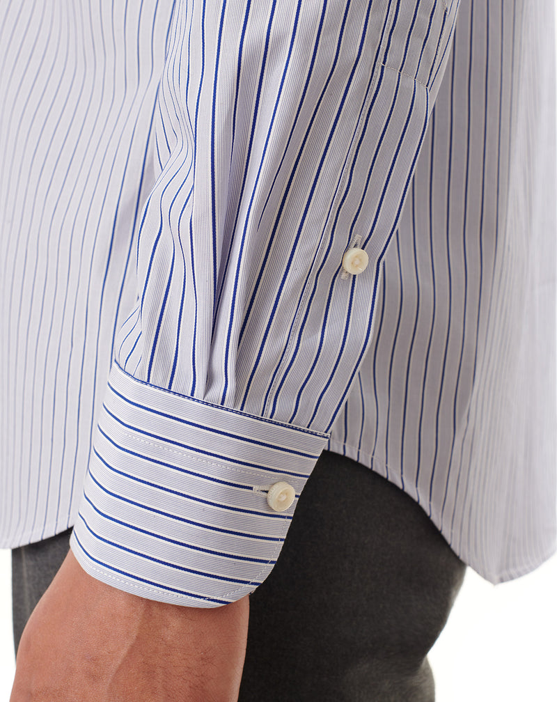 Formal shirt with blue/white stripes KINGSLEY