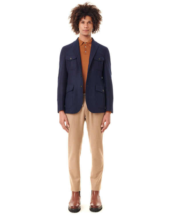 Navy Safari Jacket LAURENCE
