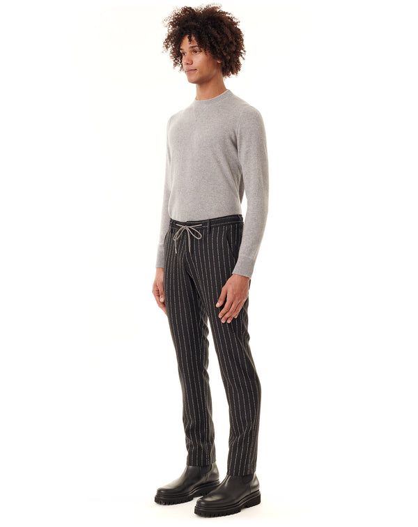 Black Francesco Smalto's tennis striped sport pants NOWEN