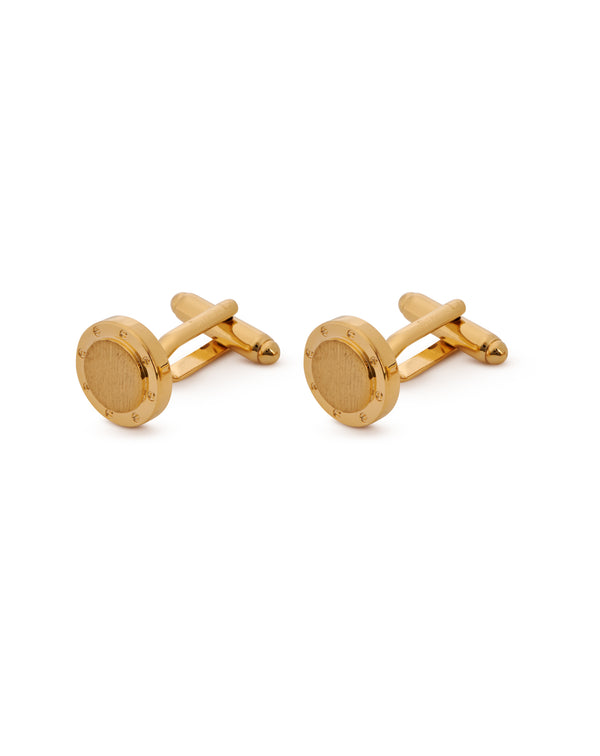 Gold-plated brass cufflinks SAINT-HONORE