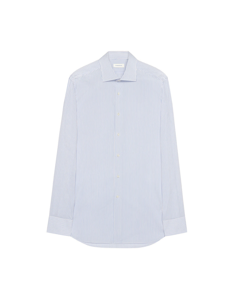 Formal shirt with white thin stripes FRANCOIS
