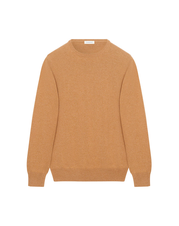 Pull cachemire Mohcen col rond camel
