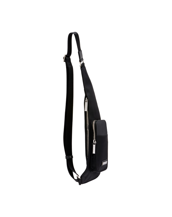 Black nylon and leather Holster HARLY