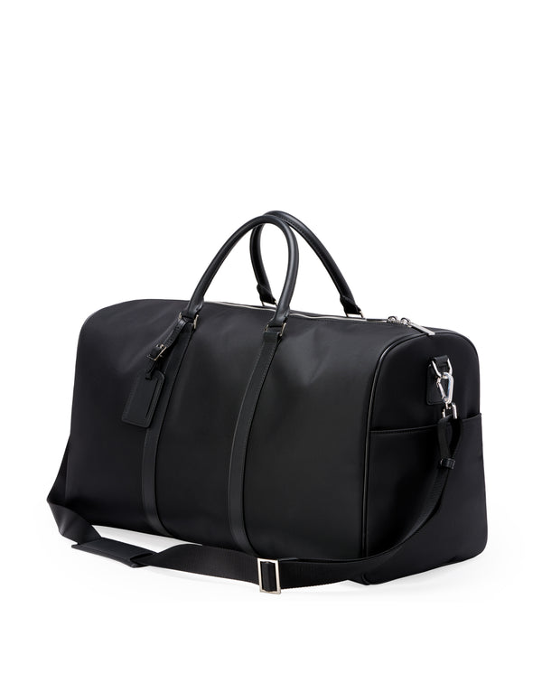 48H nylon and leather black bag HOLLING