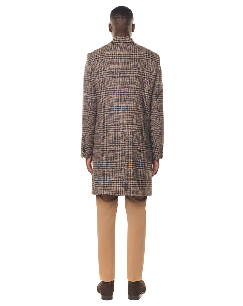 Prince of Wales wool and cashmere coat HARVEY