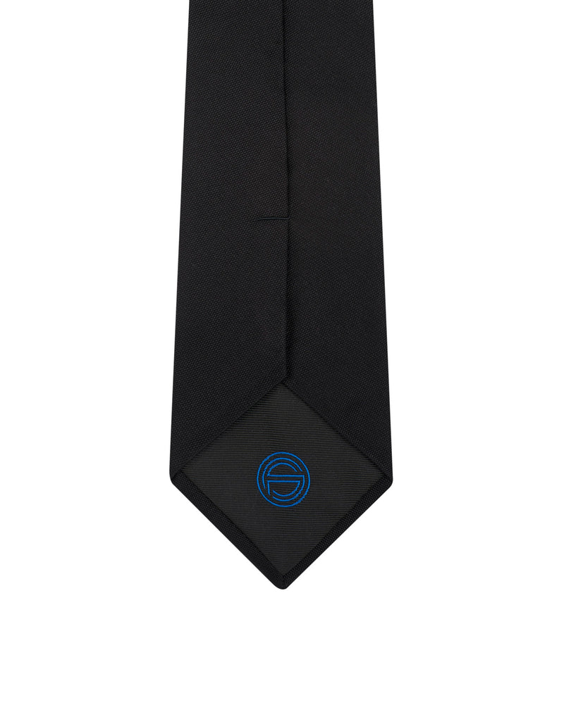 Black silk and cotton tie Angelo