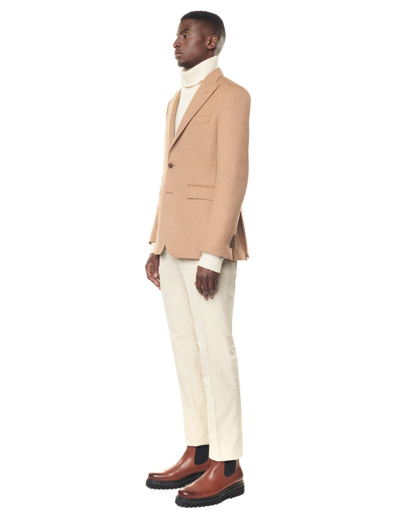 Camel hair tip collar jacket CAPRIO