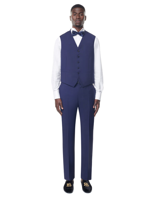 Smalto Blue Suit Vest Miller