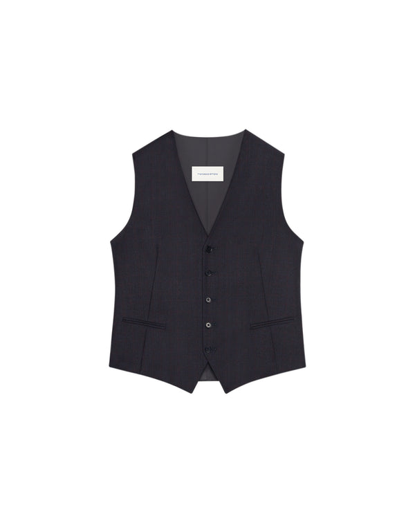 Gilet de costume Londres carreaux Marine/Bordeaux