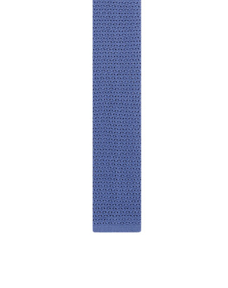 Atlantic blue slik knit tie Anglad