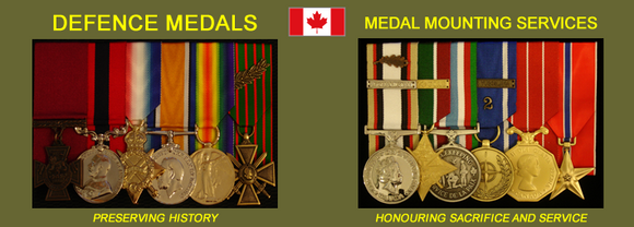 Defence Medals Canada and Medal Mounting