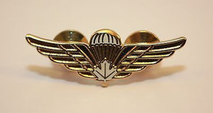 Canadian/Canada Airborne Jump Wings, White Leaf, Operational Parachutist, Medium