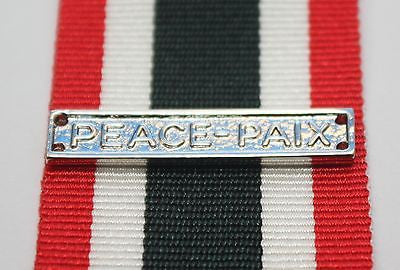 Canadian Special Service Medal Peace-Paix Bar, Reproduction