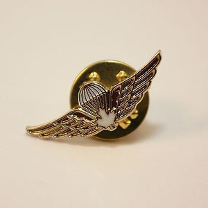 Canadian/Canada Airborne Jump Wings, White Leaf, Op Parachutist, Lapel Pin