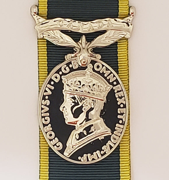Canadian Efficiency Medal GVI, Reproduction