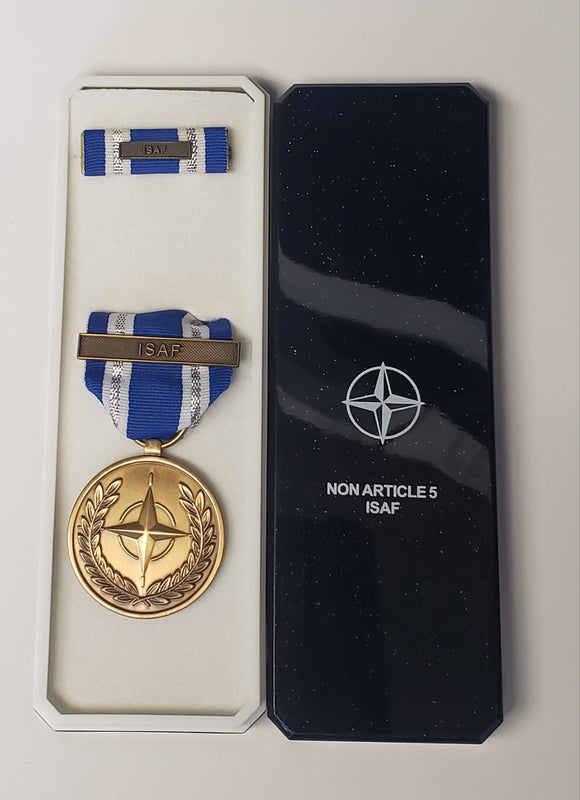 NATO Service Medal ISAF, Original in Presentation Box