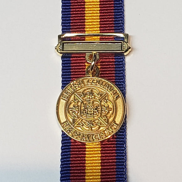British Columbia Fire Service Medal, Miniature