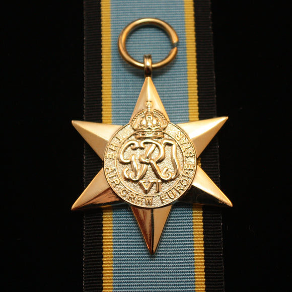 WW2 British/Canada/Commonwealth Air Crew Europe Star, Reproduction