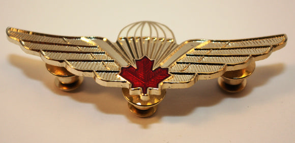 Canadian/Canada Airborne Jump Wings, Red Leaf, Basic Parachutist