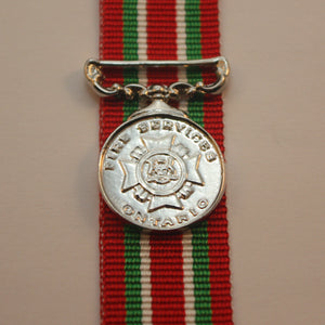 Ontario Fires Service Long Service Medal, Miniature