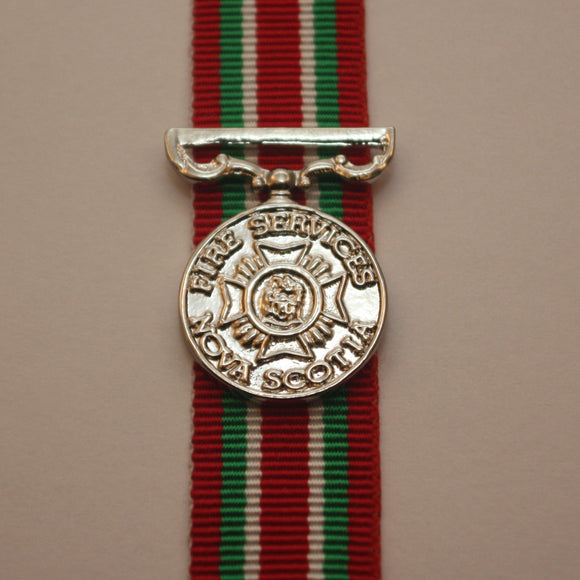 Nova Scotia Fire Services Long Service Medal, Miniature