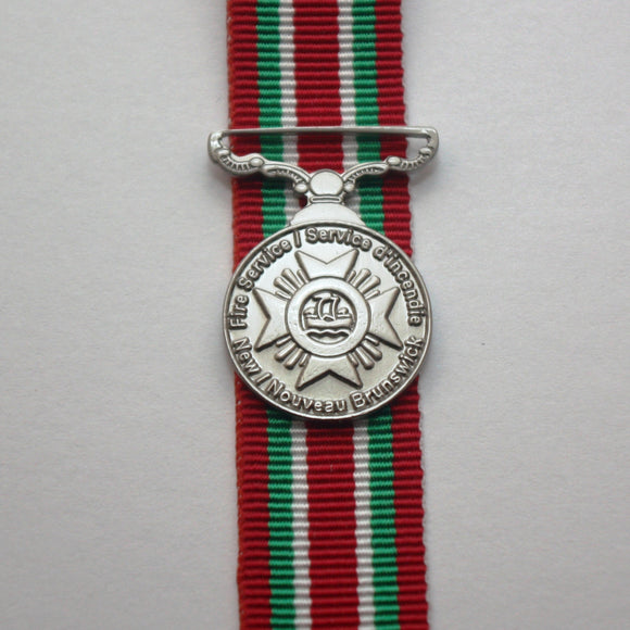 New Brunswick Fire Service Long Service Medal, Miniature
