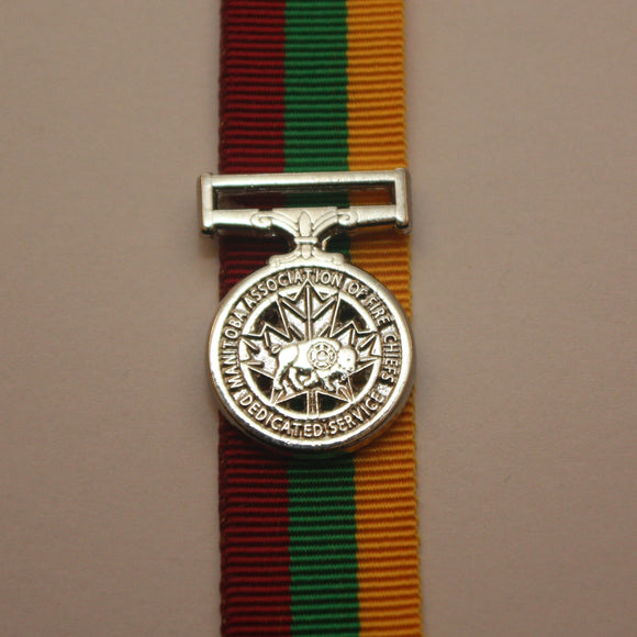 Manitoba Fire Fighter Long Service Medal, Miniature