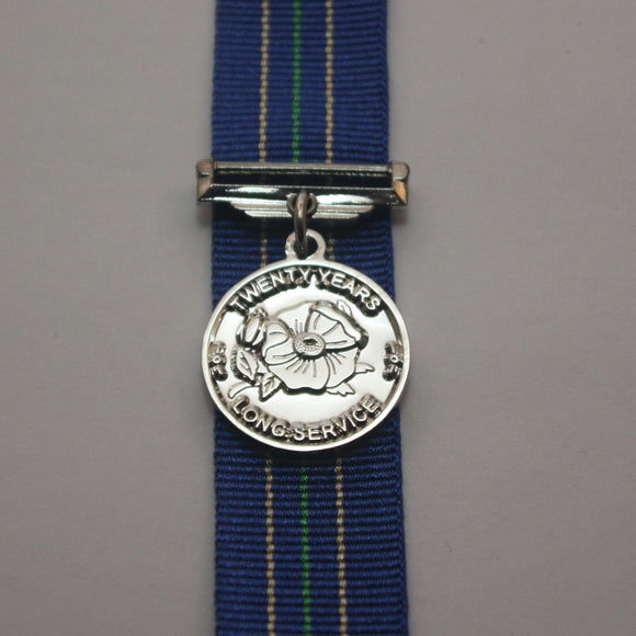 Alberta Law Enforcement 20 Year Long Service Medal, Miniature