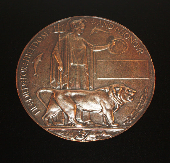 WW1 Memorial Plaque (Death Penny), Reproduction