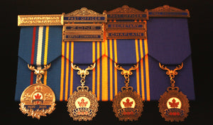 Mounting for Legion Medals (Per Medal) -Court Mounted