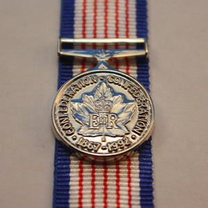 125 Anniversary of Canada Medal, Miniature