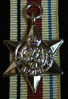 WW2 British/Canada/Commonwealth Africa Star, Miniature